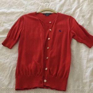 Red Ralph Lauren cardigan